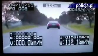 Przekroczył dozwoloną prędkość o 75 km/h
