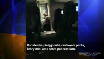 Pasażerka samolotu uratowała życie pilota