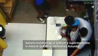 Nagranie zamachu w supermarkecie