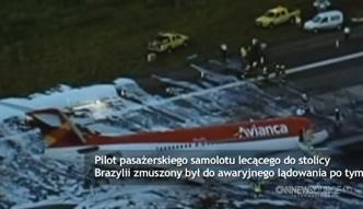 Samolot lądował 'na brzuchu'