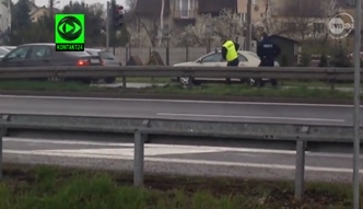 Pościg na A4. Kierowca potrącił policjantów