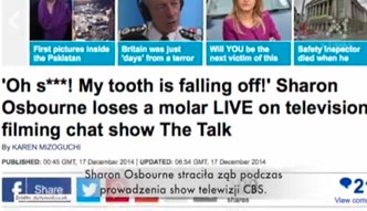 Sharon Osbourne wypadł ząb w programie na żywo