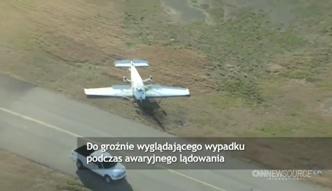 Wypadek awionetki podczas lądowania