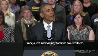 Obama: jesteśmy z Francuzami