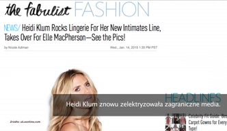 Heidi Klum promuję swoją linię bielizny