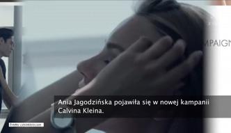 Ania Jagodzińska w kampanii Calvina Kleina