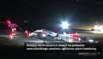 Seria alarmów bombowych w samolotach