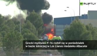 F-16 rozbił się w bazie wojskowej w Hiszpanii