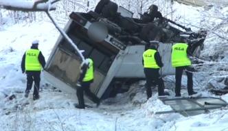Groźny wypadek busa na Śląsku
