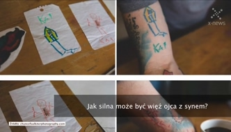 Rysunki dziecka inspiracją dla fana tatuaży