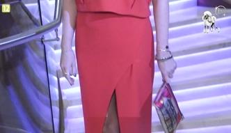 Szczupła Ada Fijał w czerwonej sukience!