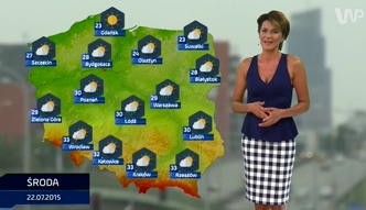 Prognoza pogody na 22, 23 i 24  lipca