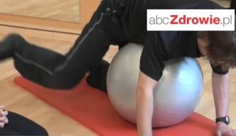 Ćwiczenie - odwodzenie ugiętej nogi w klęku podpartym