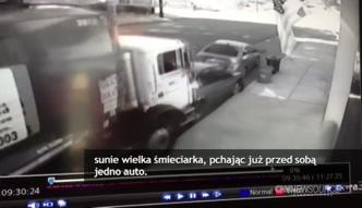 Rozpędzona śmieciarka jechała bez kierowcy