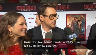 Robert Downey Jr. najlepiej zarabiającym aktorem na świecie