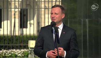 Andrzej Duda pod Pałacem Prezydenckim: tracimy powoli nasz kraj