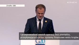 Tusk przed szczytem G20: