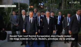 Kłopoty Tuska i Junckera w Turcji - wylatuje po nich samolot z Brukseli