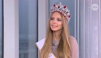Miss Polski próbuje odpowiedzieć na pytanie o inflacji