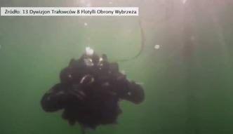 Wybuch miny na Bałtyku. Zobacz widowiskową akcję nurków