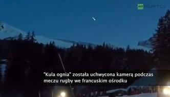 Spadający meteoryt uchwycony na południu Francji