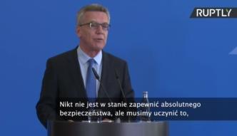 Szef MSW Niemiec proponuje zaostrzenie przepisów bezpieczeństwa
