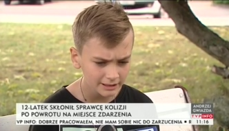 Bydgoszcz: 12-latek ujął sprawcę wypadku drogowego