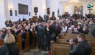 Msza żałobna za Andrzeja Wajdę w Warszawie.