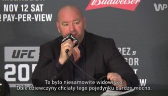 Prezydent UFC ocenił walkę Jędrzejczyk - Kowalkiewicz
