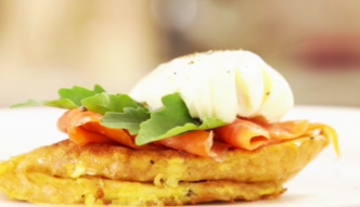 #mniammniam Tost francuski z łososiem i jajkiem