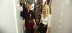 Margaret pokazuje garderobę w TVN-ie.