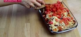 Tortilla zapiekana w pomidorowym sosie