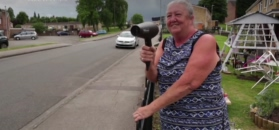 Babcia suszy kierowców