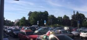 Wrocławscy taksówkarze protestują przeciwko Uberowi
