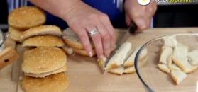 Pomysłowa sałatka-hamburger