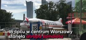 """Samolot w centrum Warszawy. Właściciel działki: """"Chcę im zohydzić ten plac"""""""