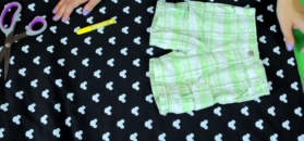 Spodenki dziecięce w uroczy wzorek – DIY