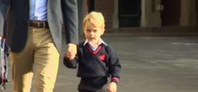 Książę William odprowadza syna do szkoły