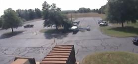 Cessna wpadła na drzewo
