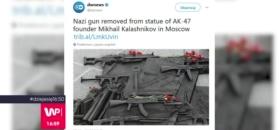 Wielka wpadka na pomniku Kałasznikowa