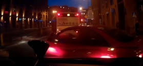 Ciężarówka staje w poprzek drogi, wypadki polskich kierowców i wyprawa sportowym Lamborghini