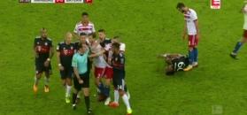 Lewandowski o włos od zdobycia bramki! Zobacz skrót meczu Hamburger SV - Bayern Monachium [ZDJĘCIA