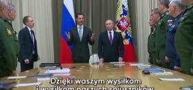 "Putin i al-Assad ""uratowali Syrię"""