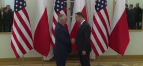 Rex Tillerson w Polsce. Spotkanie z prezydentem