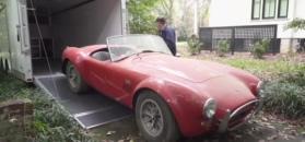 Garażowe znalezisko wszech czasów. Oryginalna Cobra i aluminiowe Ferrari