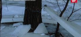 Lód 80 centymetrów nad ziemią. Takie cuda w Kaczorach