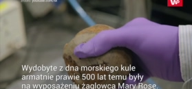 Prześwietlają prawie 500-letnie kule promieniami X