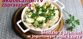 Śledzie z jajkiem w jogurtowym sosie z curry