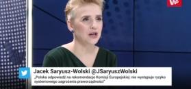 Dlaczego Merkel przyjechała do Polski? Scheuring-Wielgus nie ma złudzeń