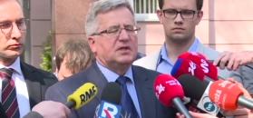 """Komorowski po przesłuchaniu w prokuraturze. """"PiS chce odwrócić uwagę od kłamstwa"""""""
